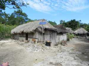Cool summer shack Coba Mayan village